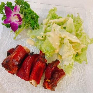 Côtes de porc laquées 3 Pièces