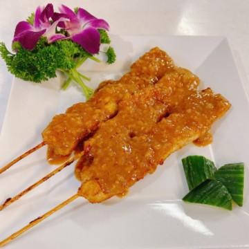 Brochettes de poulet satay...