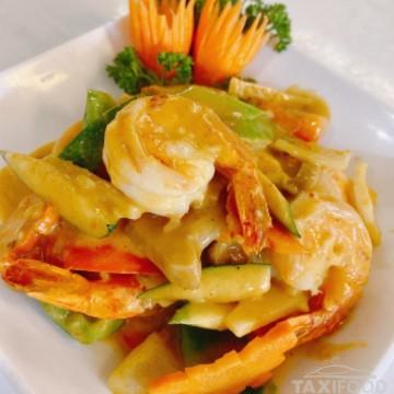 Crevettes au curry (jaune)