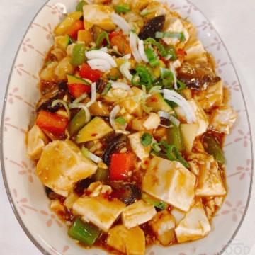Tofu Ma-Po avec crevettes