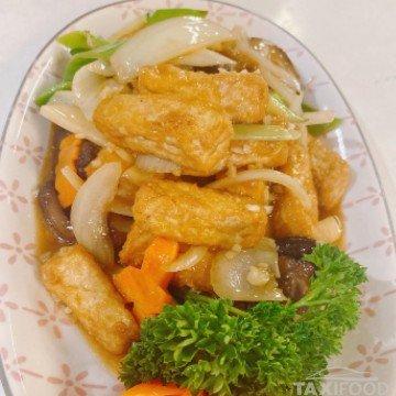 Tofu braisé à la façon du chef