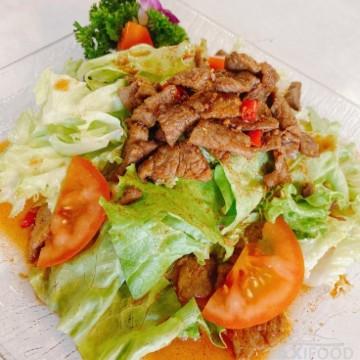 Salade de boeuf aux piments