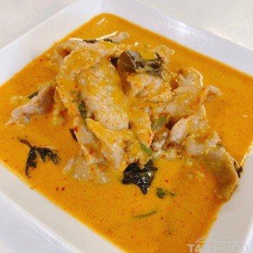 Porc au curry rouge