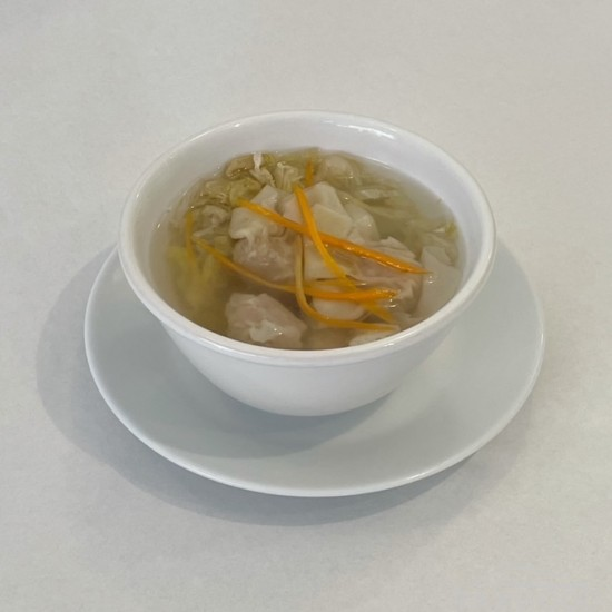 Potage aux ravioli (crevette)